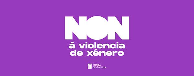 Logo da Xunta de Galicia de NON á violencia de xénero