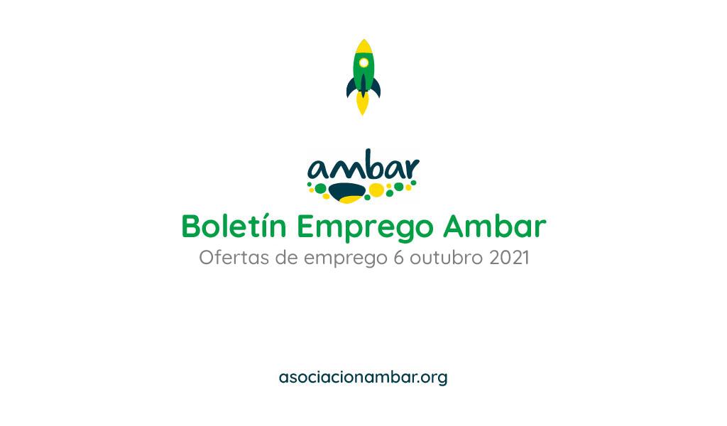 Boletín de emprego Ambar das ofertas de emprego da barbanza do 6 de outubro de 2021